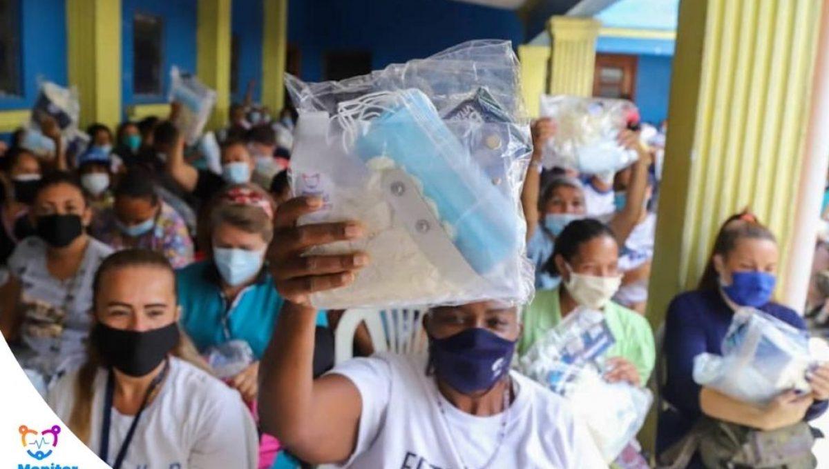 Entrega de kits de bioseguridad